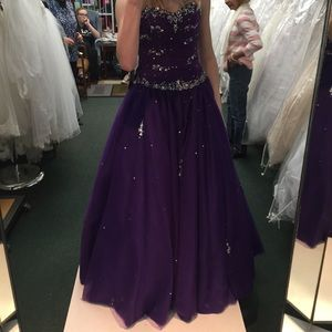 Purple Princess Ball Gown